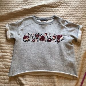 Sweatshirt Material Tee Shirt from Abercrombie